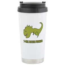 T-Rex Hates Pushups Travel Mug