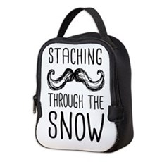 Staching Through the Snow Neoprene Lunch Bag