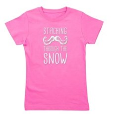 Staching Through the Snow Girl's Tee