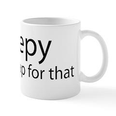 iSleepy-transp-blk Mug