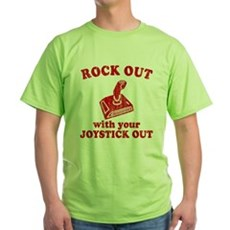 Rock Out With Your Joystick O Green T-Shirt