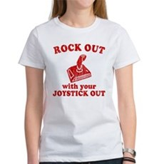 Rock Out With Your Joystick O Womens T-Shirt