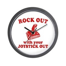 Rock Out With Your Joystick O Wall Clock