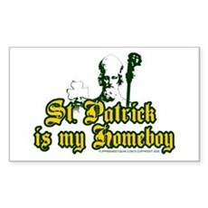 St. Patrick is my Homeboy Rectangle Sticker