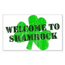 Welcome to Shamrock Rectangle Sticker