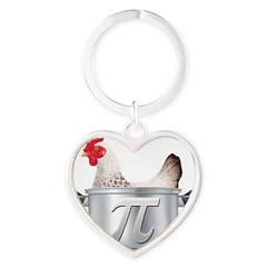 CHICKE 1 POT PI Heart Keychain