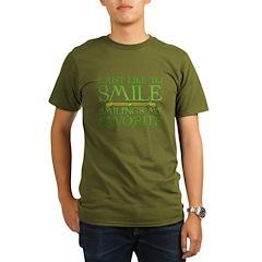 I Just Like to Smile, Smiling's My Favorite Organic Men's Dark T-Shirt