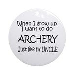 WIGU Archery Uncle Ornament (Round)