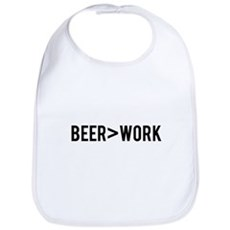Beer is Greater than Work Bib