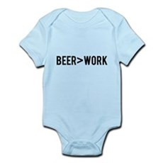 Beer is Greater than Work Body Suit