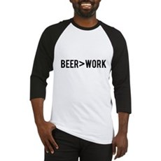 Beer is Greater than Work Baseball Jersey