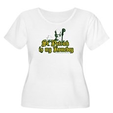 St. Patrick is my Homeboy Womens Plus Size Scoop