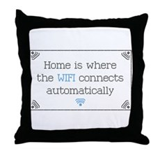 Home is Where the WIFI Connects Throw Pillow