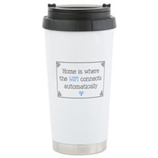 Home is Where the WIFI Connects Travel Mug
