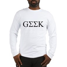Geek in Greek Letters Long Sleeve T-Shirt