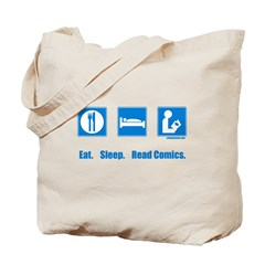 Eat. Sleep. Read comics Tote Bag