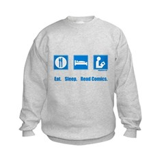 Eat. Sleep. Read comics Kids Sweatshirt