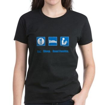 Eat. Sleep. Read comics Women's Dark T-Shirt   Gifts For A Geek   Geek T-Shirts