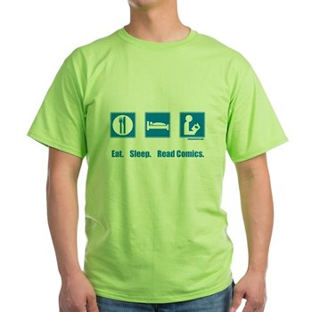 Eat. Sleep. Read comics Green T-Shirt | Gifts For A Geek | Geek T-Shirts
