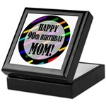 90th Birthday For Mom Keepsake Box