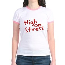 High on Stress Jr Ringer T-Shirt