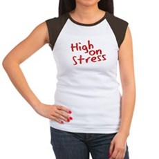 High on Stress Womens Cap Sleeve T-Shirt