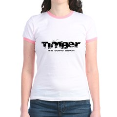 Timber - It's Going Down Jr. Ringer T-Shirt