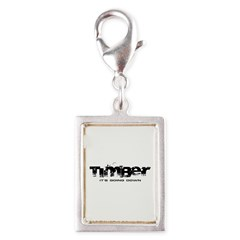 Timber - It's Going Down Silver Portrait Charm