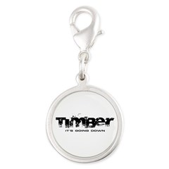 Timber - It's Going Down Silver Round Charm