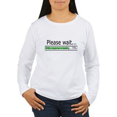 Please Wait Women's Long Sleeve T-Shirt
