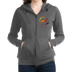 Flying Vampire Bats Women's Zip Hoodie