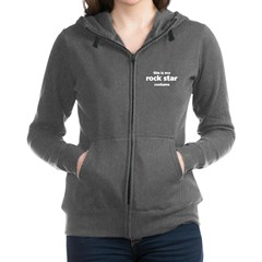 this is my rock star costume Women's Zip Hoodie