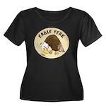 Eagle Feak Women's Plus Size Scoop Neck Dark T-Shi