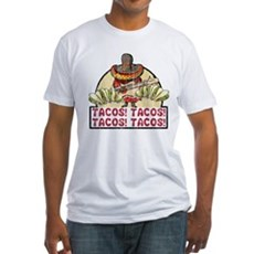 Tacos! Tacos! Tacos! Tacos! Fitted T-Shirt