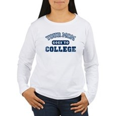 Your Mom Goes to College Womens Long Sleeve T-Shi