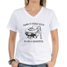 Damn it Feels Good Womens V-Neck T-Shirt