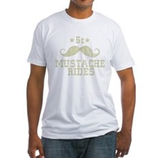 5¢ Mustache Rides (Vintage) Fitted T-Shirt