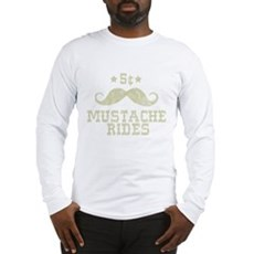 5� Mustache Rides (Vintage) Long Sleeve T-Shirt