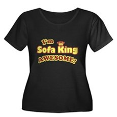 I'm Sofa King Awesome! Womens Plus Size Scoop Nec