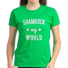 Shamrock My World Womens Womens T-Shirt