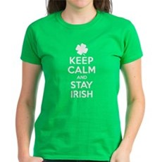 Keep Calm And Stay Irish Wome Womens T-Shirt