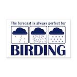 Forecast for Birding Rectangle Car Magnet