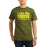 I Like Big BIRDS Organic Men's T-Shirt (dark)