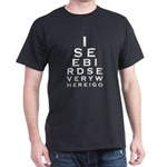 Birding Eyechart Dark T-Shirt