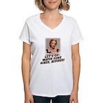 Let's Go Watch Some Birds! Women's V-Neck T-Shirt