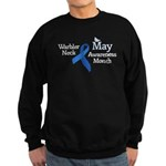 May Warbler Neck Awarness Month Sweatshirt (dark)