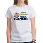 Support Warbler Neck Awareness Women's T-Shirt