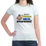 Support Warbler Neck Awareness Jr. Ringer T-Shirt