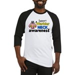 Support Warbler Neck Awareness Baseball Jersey