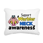 Support Warbler Neck Awa Rectangular Canvas Pillow